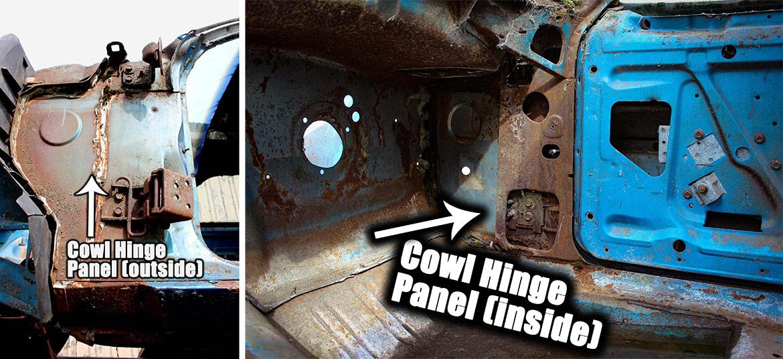 decrepit plymouth vehicle panels