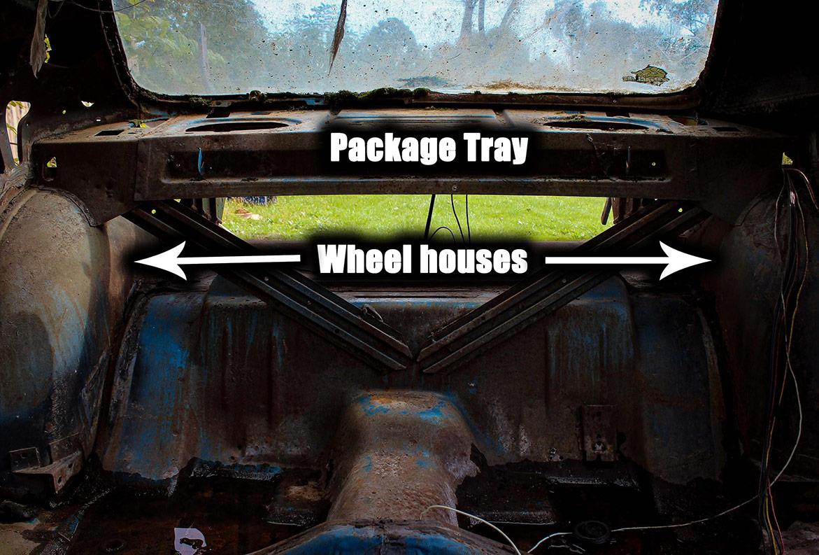 decrepit plymouth vehicle interior