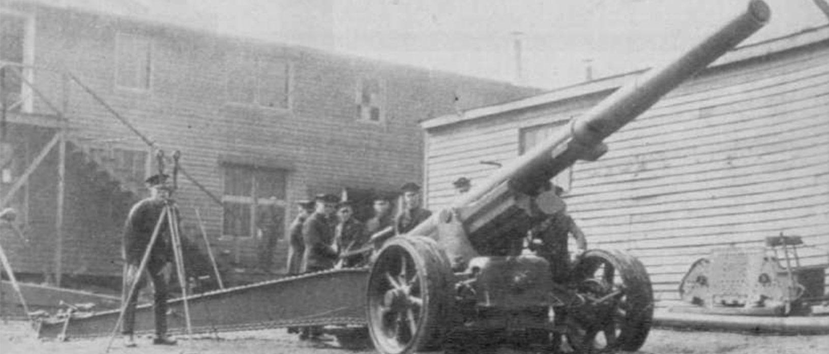 men around cannon