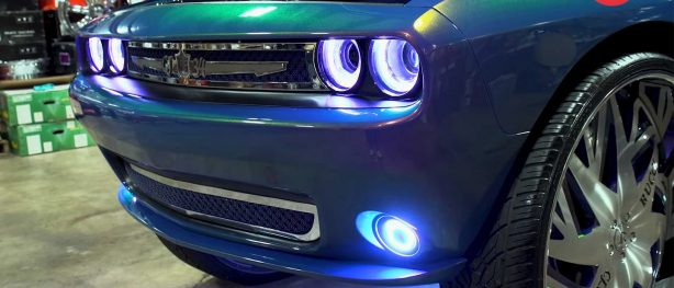 front end of custom dodge challenger
