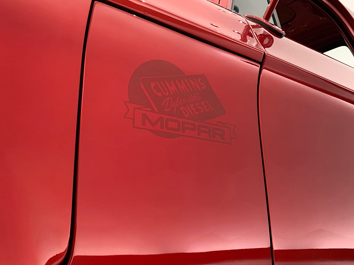 cummins decal on the Mopar® Dodge Lowliner Concept