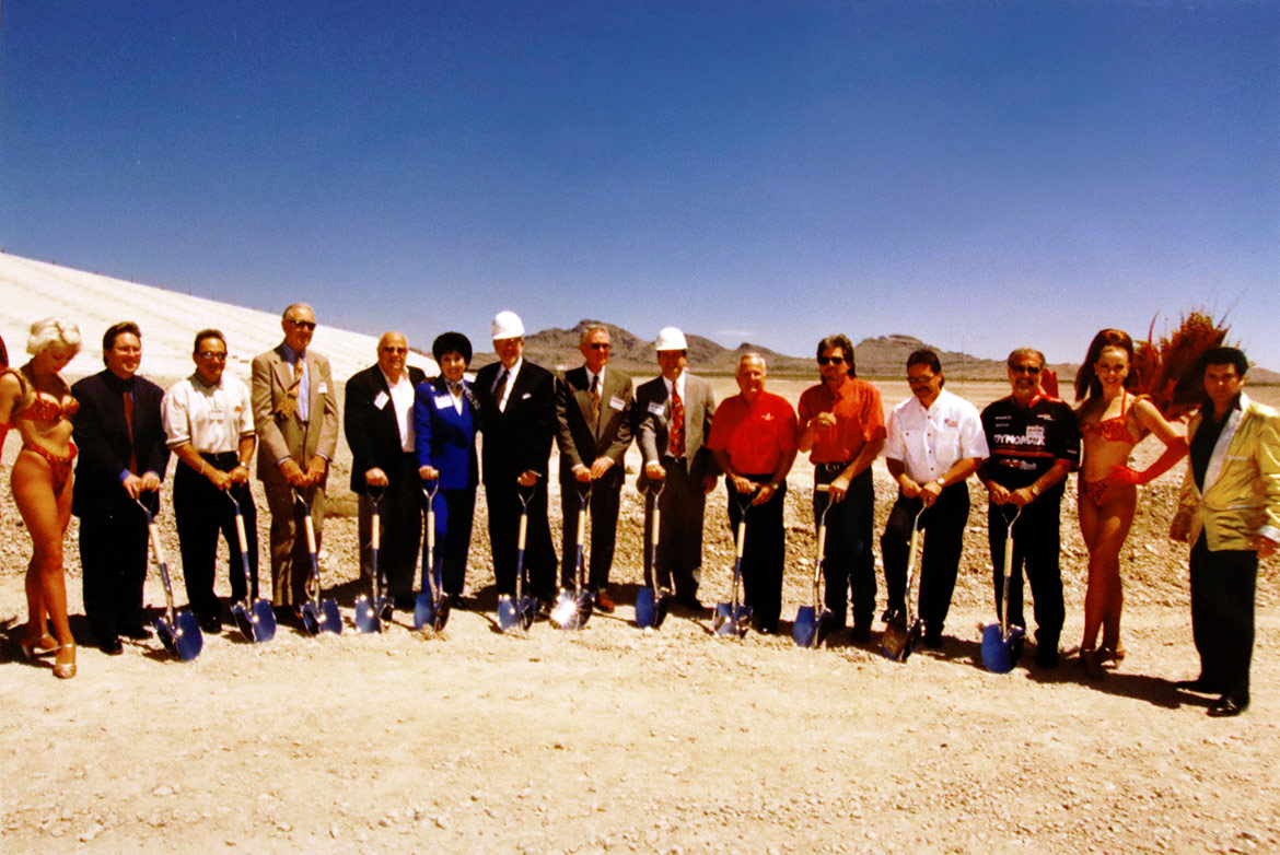 group of people with shovels