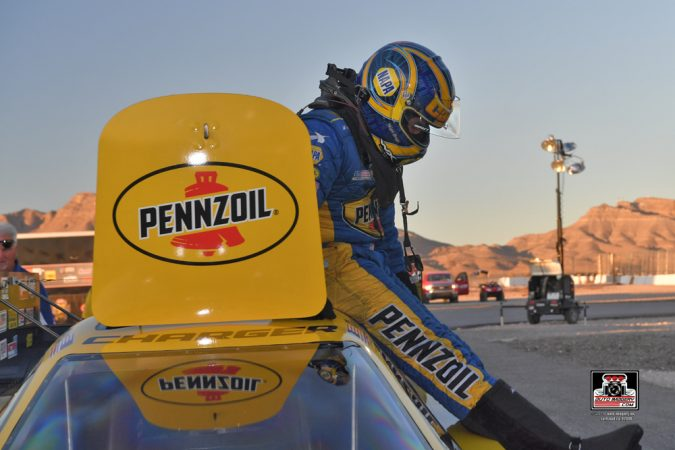 ron capps getting out of funny car