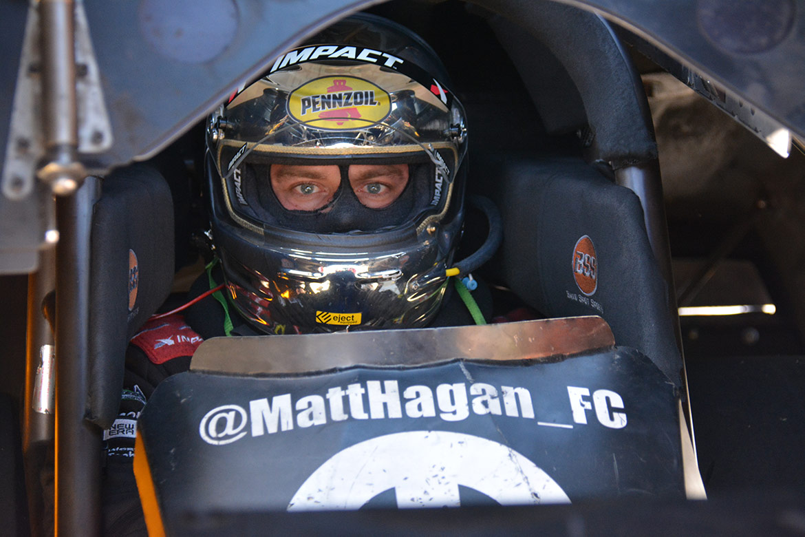 matt hagan in his funny car