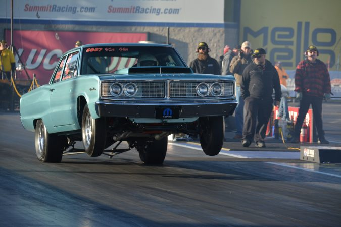 vehicle on the drag strip
