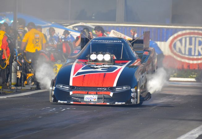 funny car on the drag strip