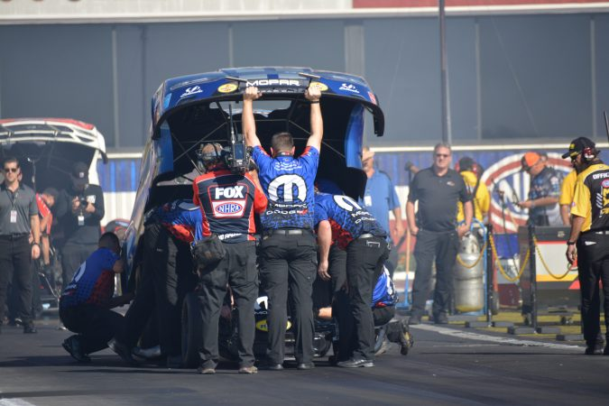 funny car and crew team