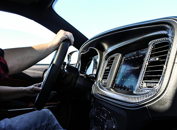 interior of charger widebody