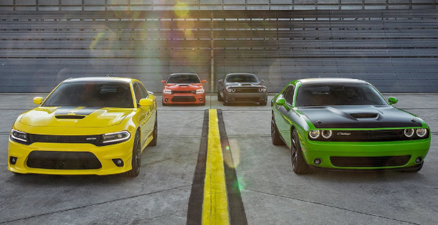 Challengers and chargers lined up