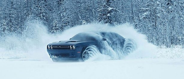 vehicle in the snow