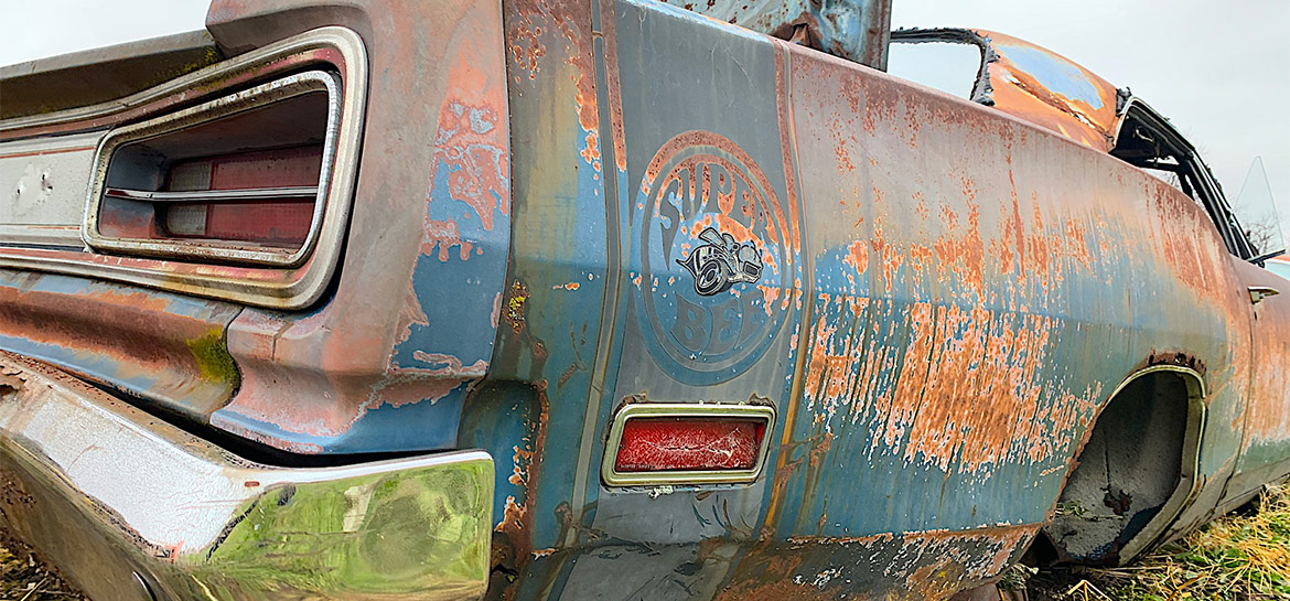 old super bee in junkyard