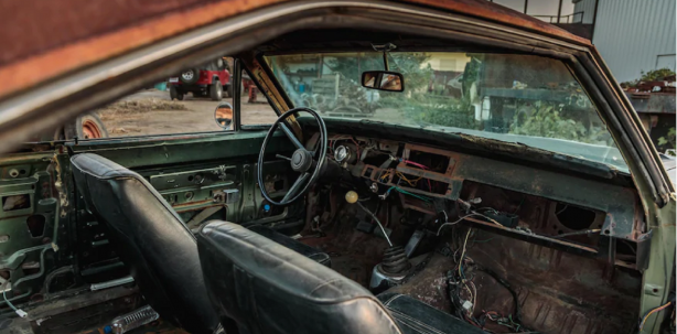 inside of old dodge