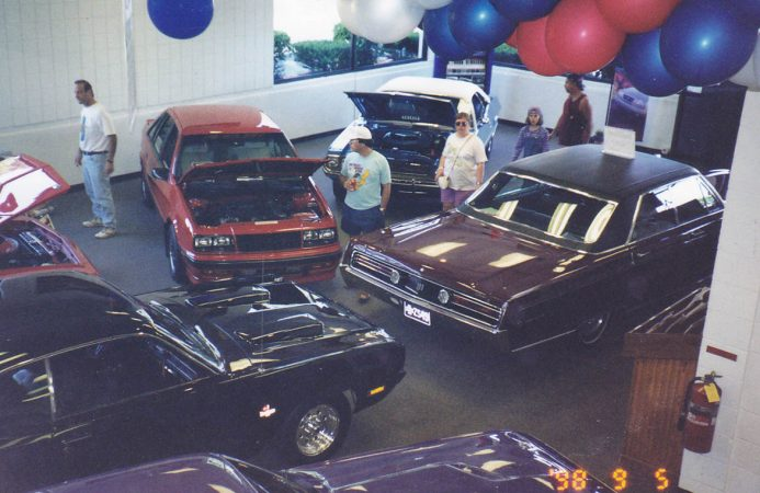 Shelby Lancer on display at a car show
