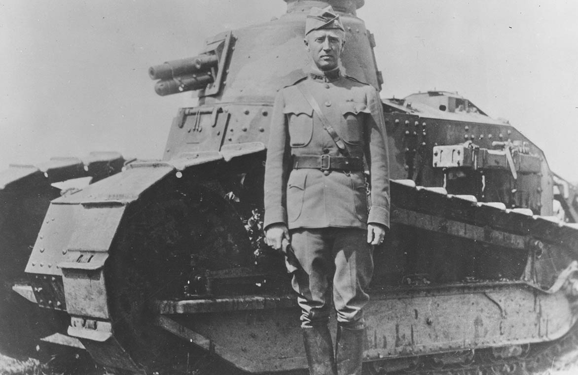 Patton with M1917