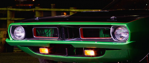 Front end of a 1974 Cuda
