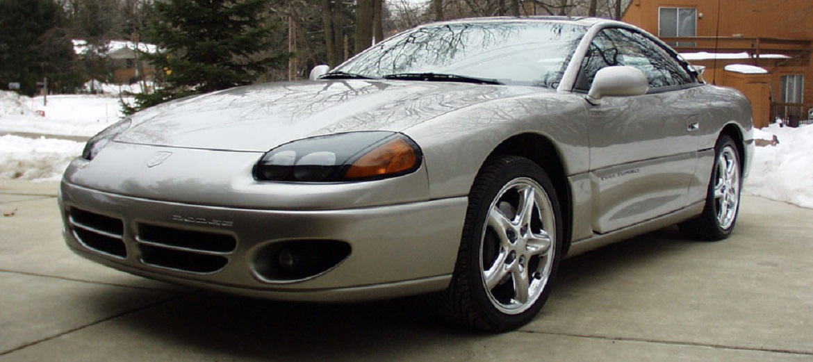 Front end of silver Dodge Stealth