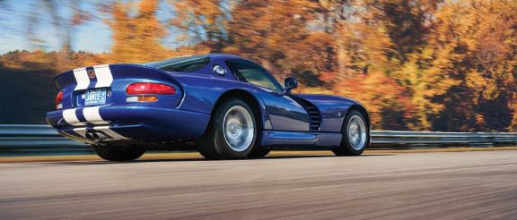 Viper GTS driving down the road