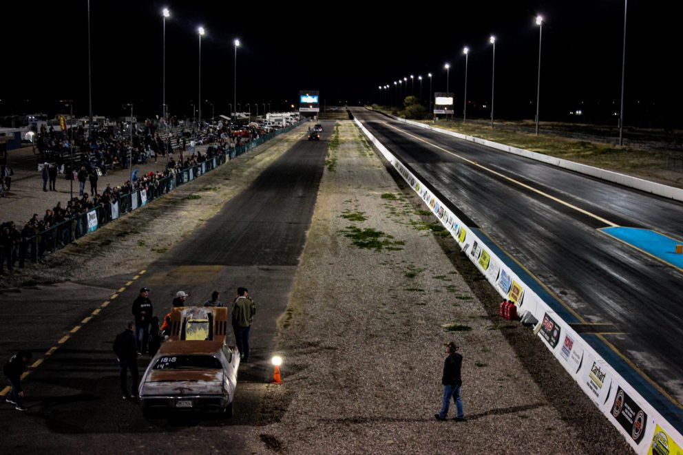 crowd lined drag strip