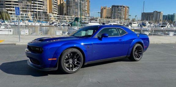 Blue Dodge Challenger SRT Hellcat Redeye
