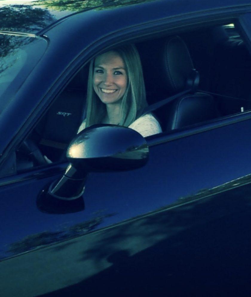 teen girl in a car