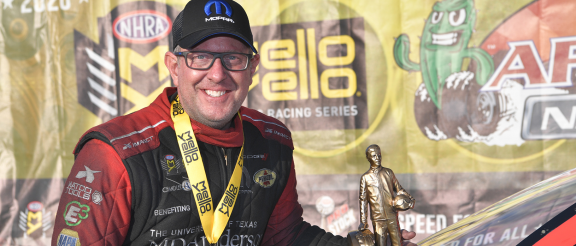 Tommy Johnson Jr. Earns NHRA Arizona Nationals Win in All-Mopar<sub>&reg;</sub>Dodge//SRT<sup>&reg;</sup> Funny Car Final Round Battle