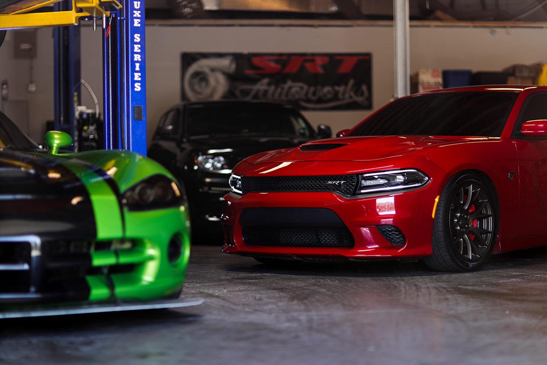vehicles on display