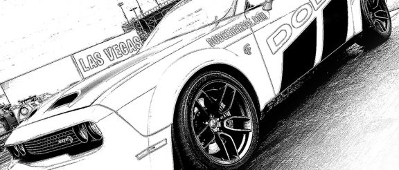 Sharpen your colored pencils and download Dodge coloring sheets