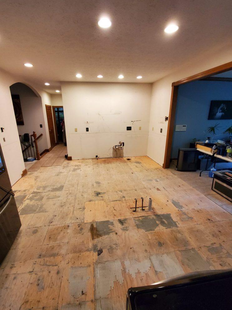 empty room under construction