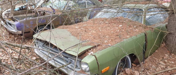 abandoned 1972 Dodge Demon