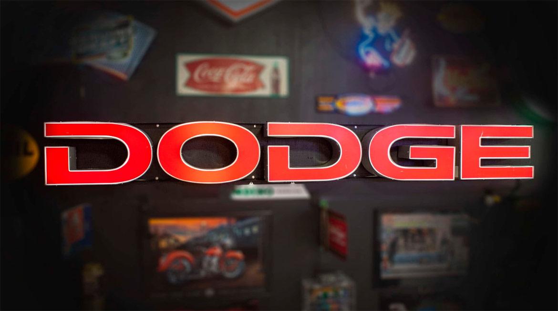 Dodge Channel Letter Light-Up Dealer Sign