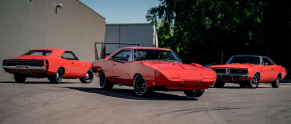 three 1969 Dodge Chargers