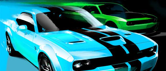 Dodge Challenger art