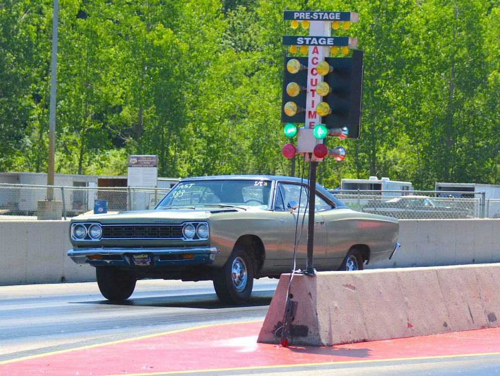 vehicle on a drag strip