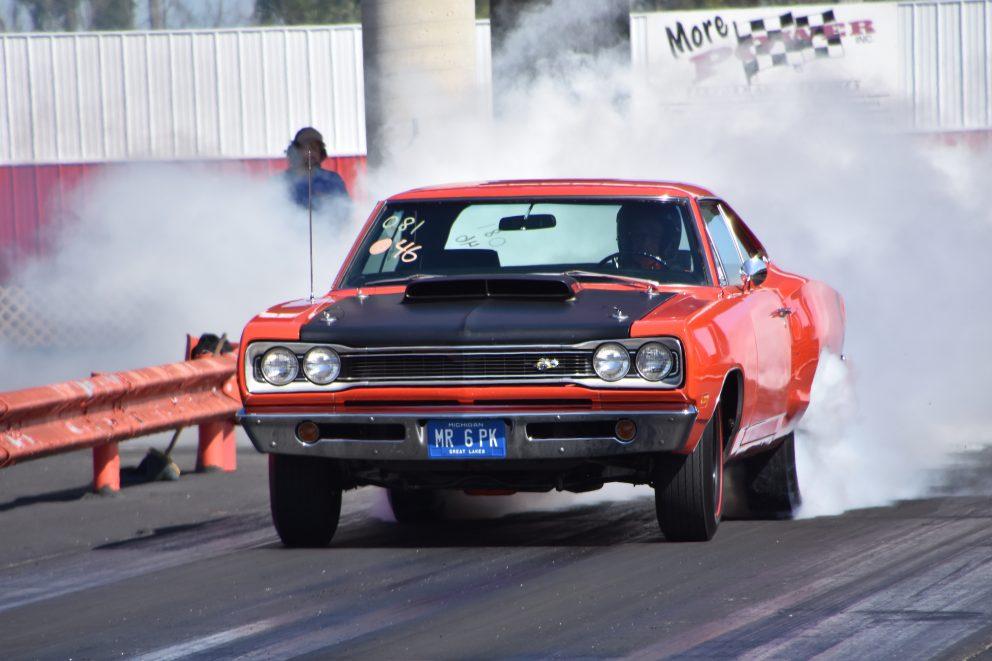 dodge vehicle doing a burnout