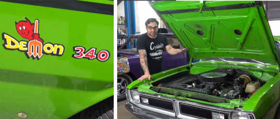 man with a 1971 dodge demon