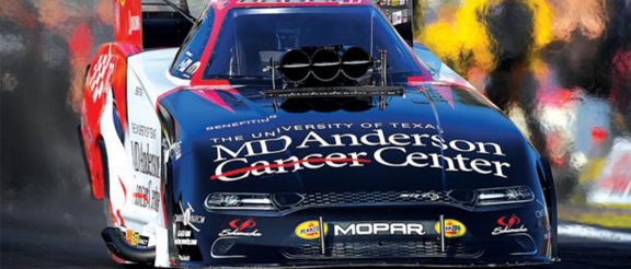 MD Anderson Dodge Charger SRT Hellcat Funny Car