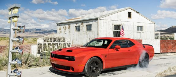 2020 Dodge Challenger SRT Super Stock: The newest Dodge drag racing machine with 807 horsepower is the world's quickest and most powerful muscle car.