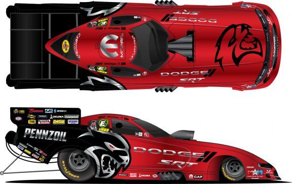 Mopar<sub>&reg;</sub> Dodge//SRT<sup>&reg;</sup>-Sponsored Entries Sport Sinister New SRT Hellcat Redeye Paint Schemes at NHRA Summernationals
