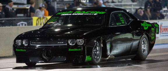 2009 Dodge Challenger on a drag strip