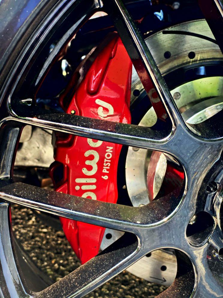vehicle rim and brakes