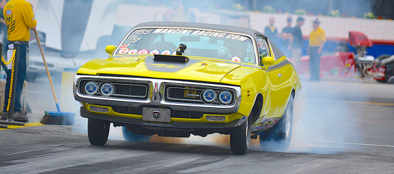 1971 Charger R/T doing a burnout