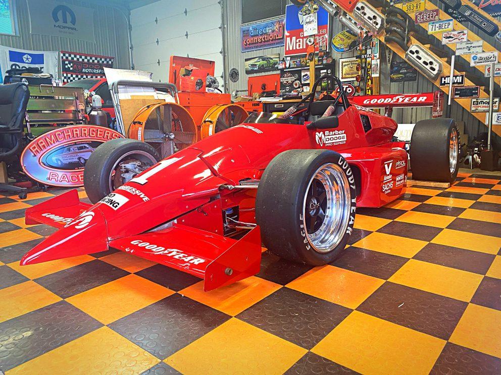 vehicle in a garage