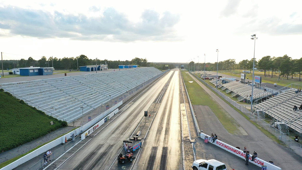 empty drag strip