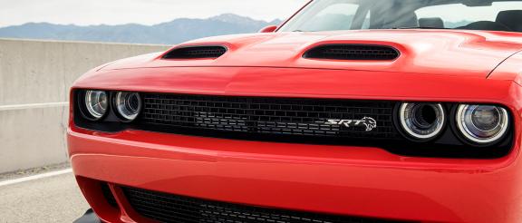 front end of Dodge Challenger