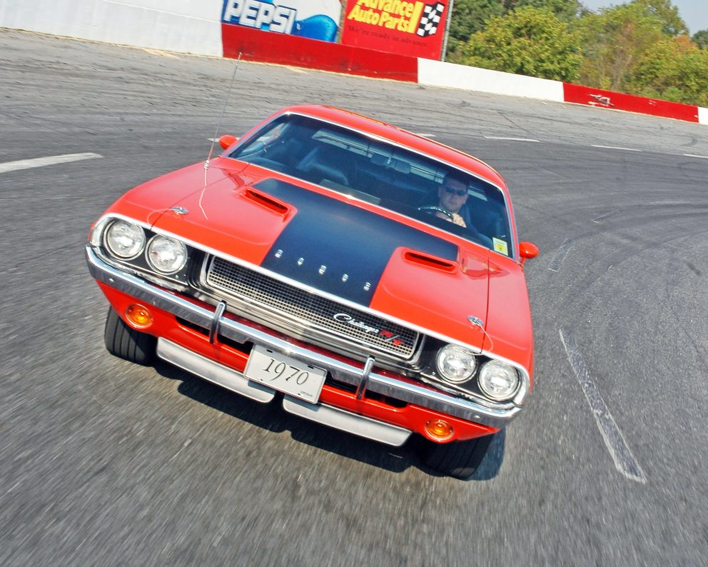 1970 Dodge Challenger R/T driving on the road