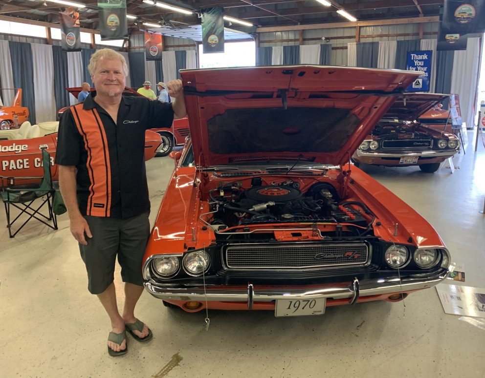 owner with his 1970 Dodge Challenger R/T