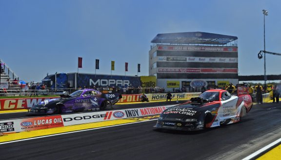 Dodge Charger of Johnson Jr. Tops Qualifying at Dodge NHRA Indy Nationals Presented by Pennzoil
