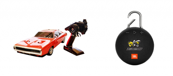 rc car and speaker