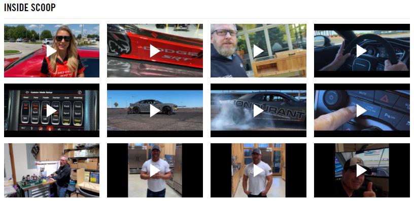 DodgeGarage video page