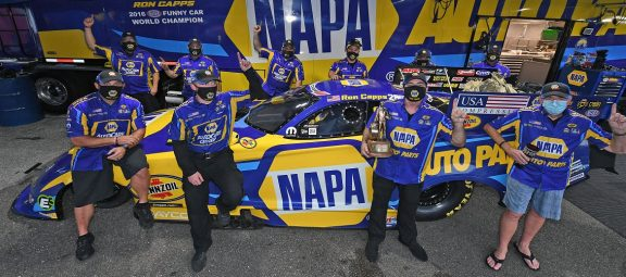 Capps Drives Dodge Charger SRT Hellcat to NHRA Gatornationals Win for Tenth Consecutive Don Schumacher Racing Victory